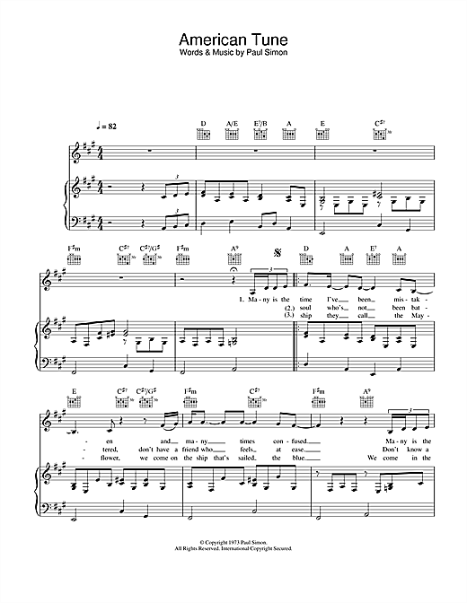 American Tune Sheet Music