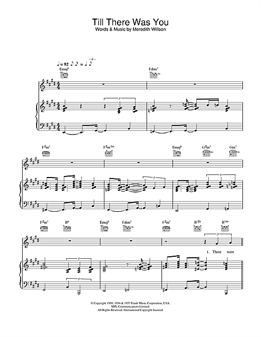 Till There Was You Sheet Music