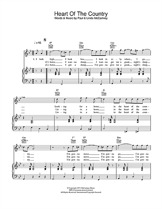 Heart Of The Country Sheet Music