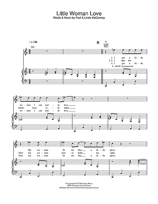 Little Woman Love Sheet Music