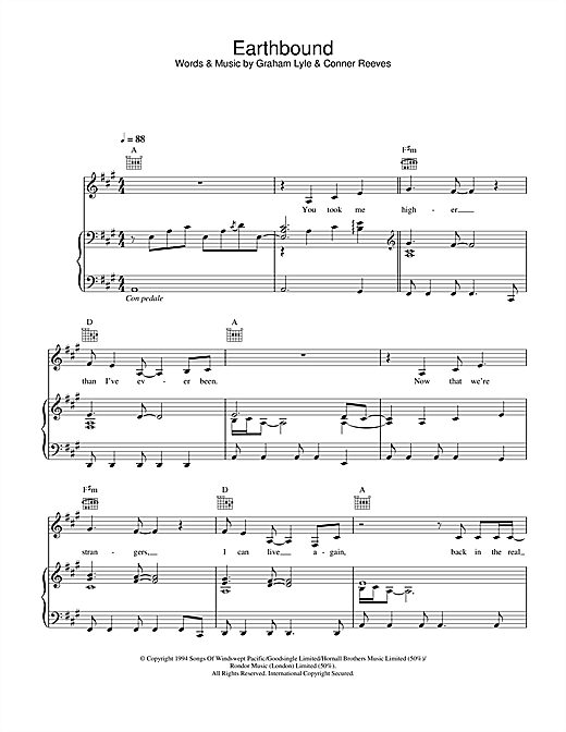 Earthbound Sheet Music