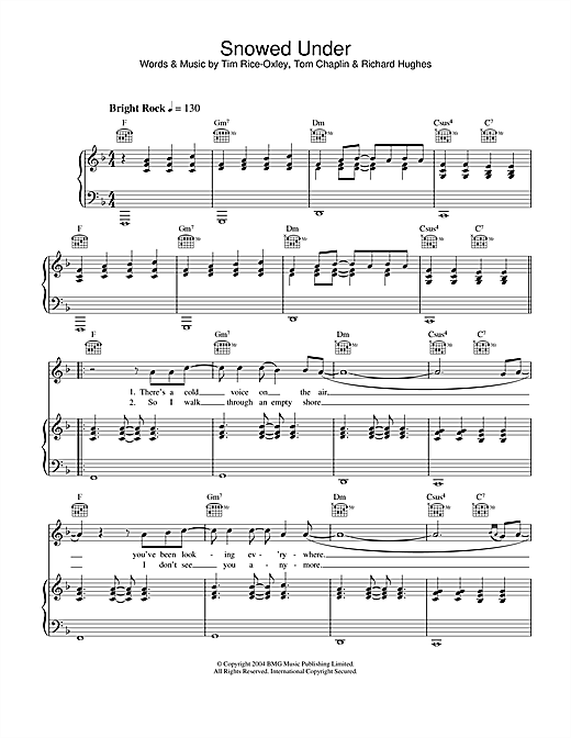 Snowed Under Sheet Music