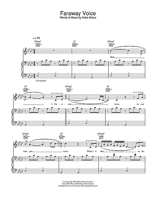 Faraway Voice Sheet Music