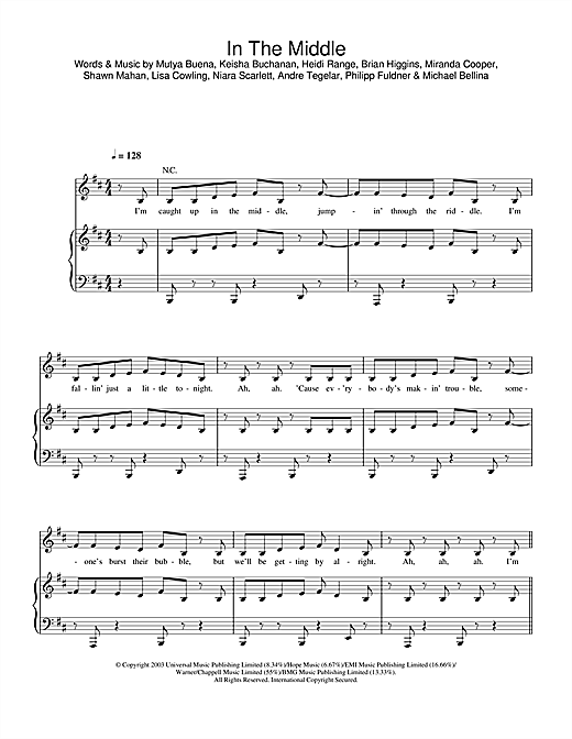 In The Middle Sheet Music