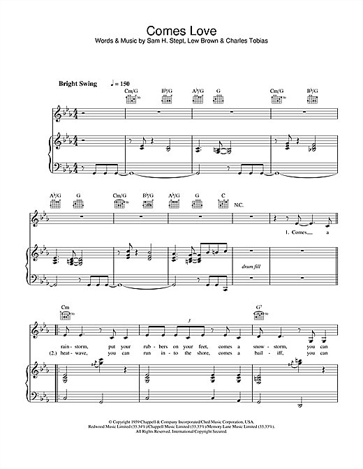 Comes Love Sheet Music