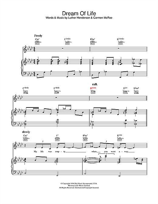 Dream Of Life Sheet Music