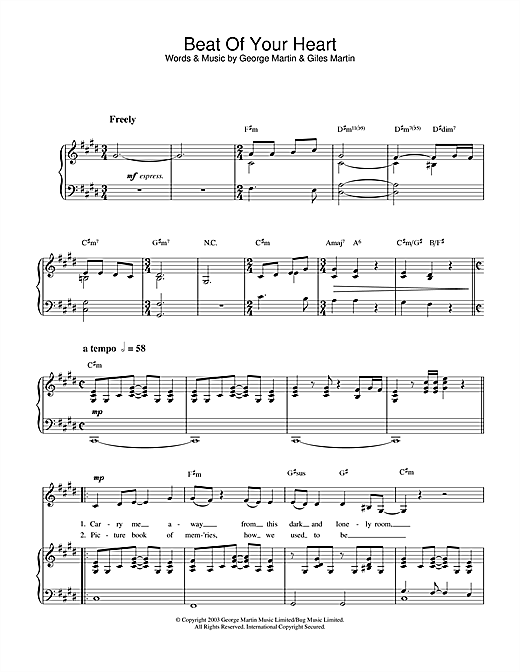 Beat Of Your Heart Sheet Music