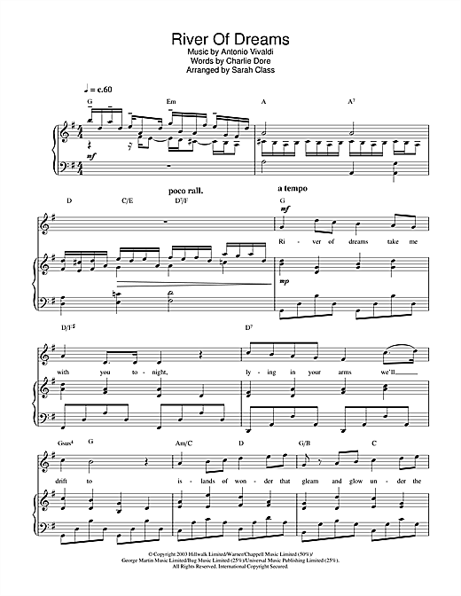 River Of Dreams Sheet Music