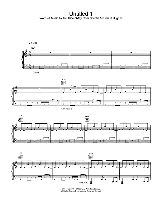 Untitled 1 Sheet Music