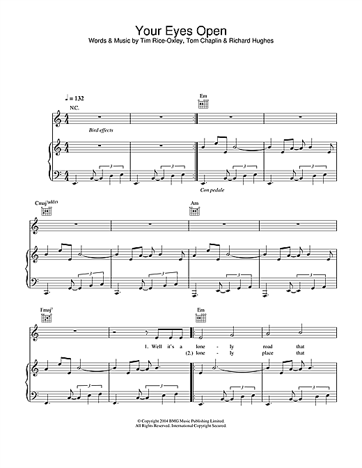 Your Eyes Open Sheet Music