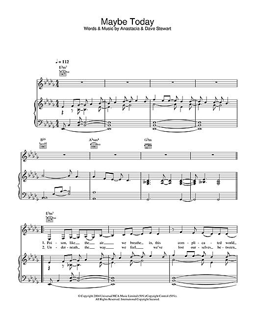 Maybe Today Sheet Music