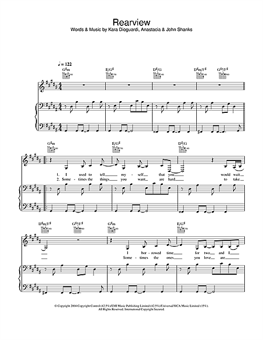 Rearview Sheet Music