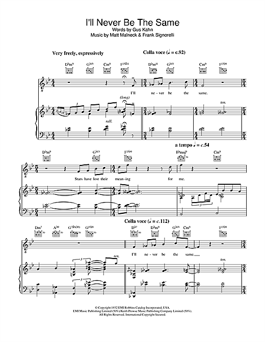 I\'ll Never Be The Same sheet music by Diana Krall (Piano, Vocal ...