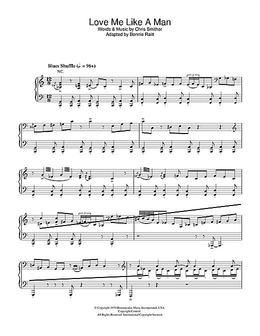 Love Me Like A Man Sheet Music