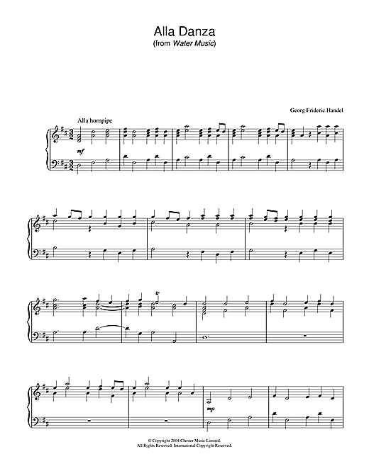 Alla Danza Sheet Music