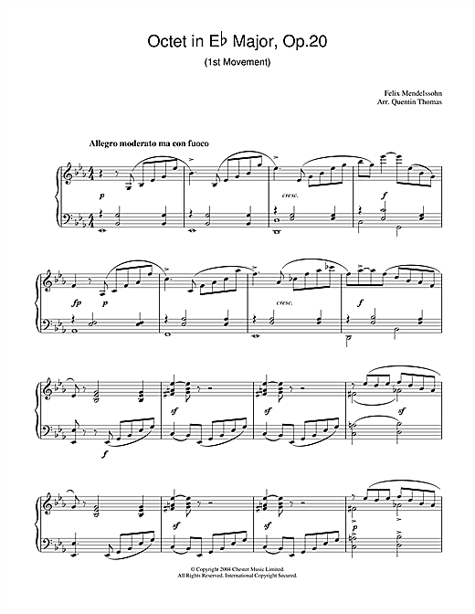 Octet in E Flat Major, Op.20 Sheet Music