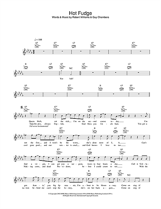Hot Fudge Sheet Music