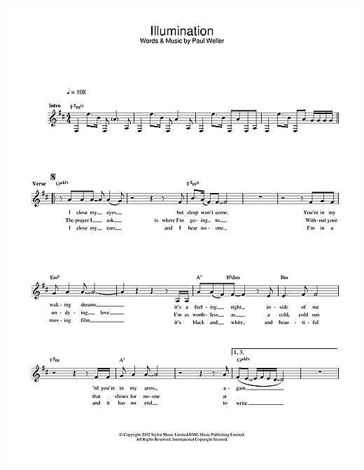 Illumination Sheet Music