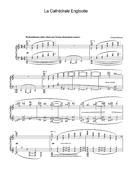 La Cathédrale Engloutie Sheet Music