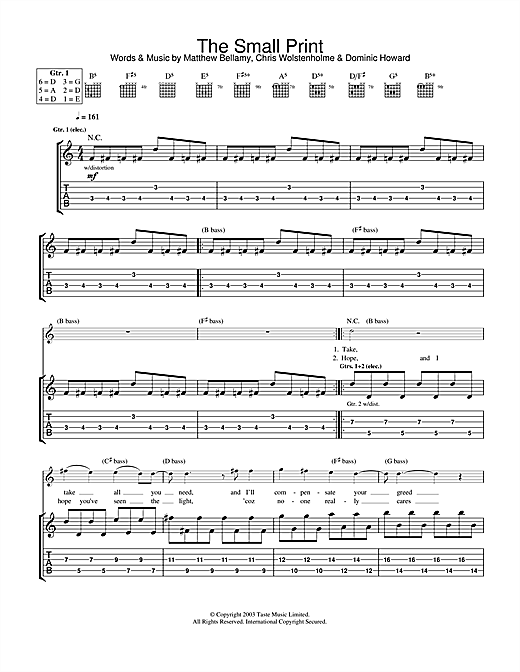 The Small Print Sheet Music