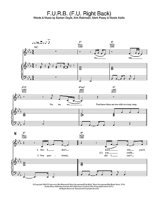 F.U.R.B. (F.U. Right Back) Sheet Music