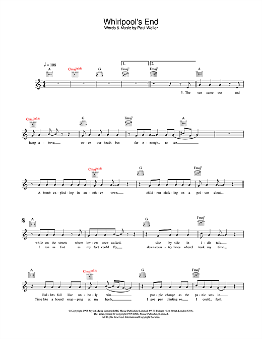 Whirlpool's End Sheet Music