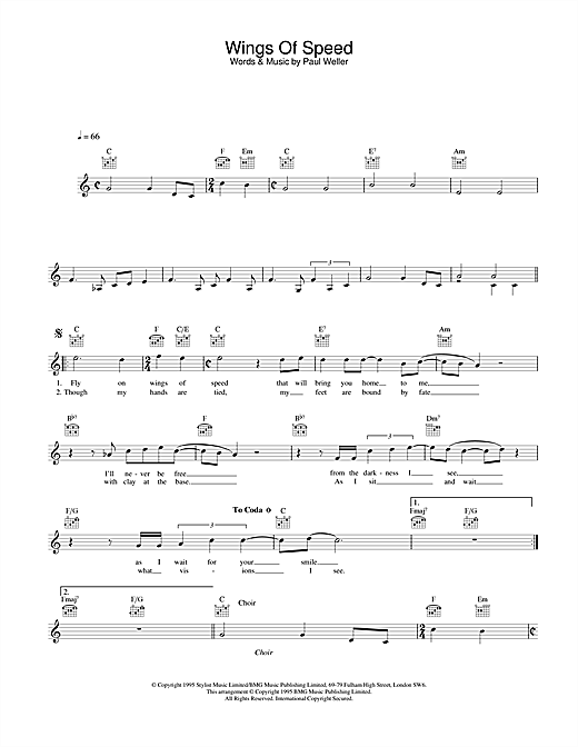Wings Of Speed Sheet Music