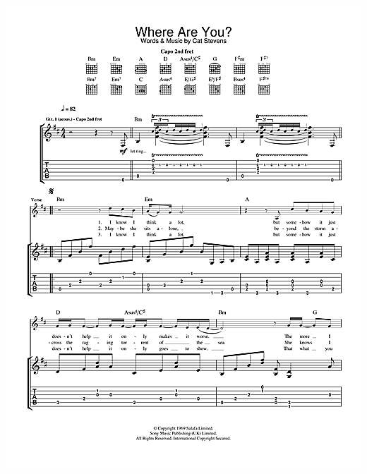 Where Are You? Sheet Music