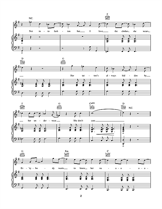 Five Colours In Her Hair Sheet Music