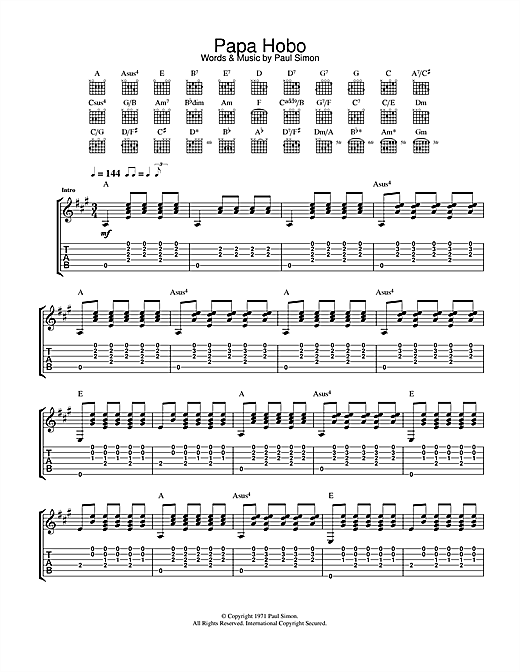 Papa Hobo Sheet Music