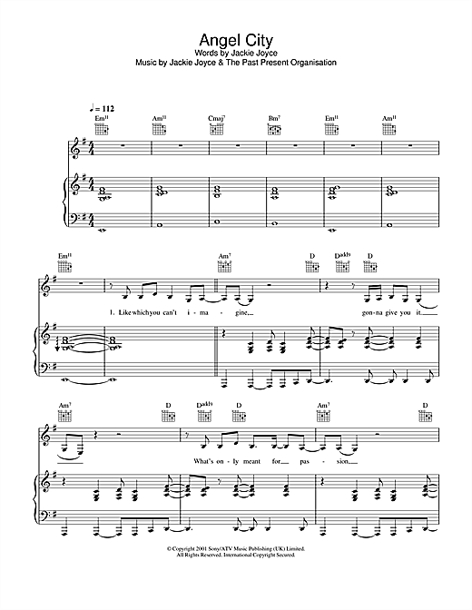 Angel City Sheet Music