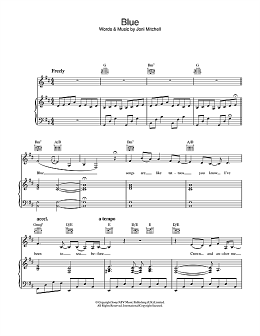 Blue Sheet Music