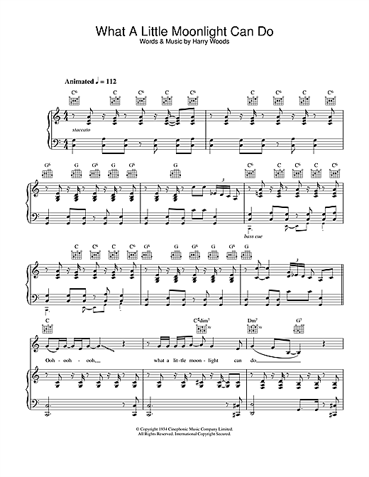 What A Little Moonlight Can Do Sheet Music