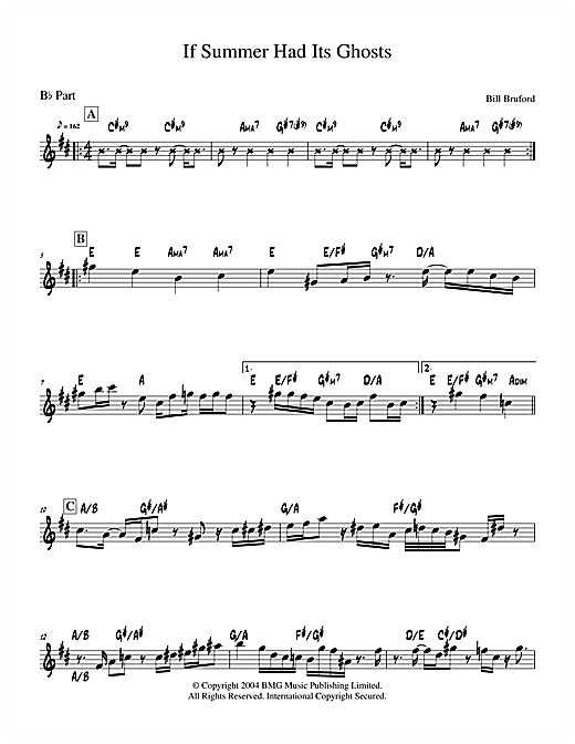 If Summer Had Its Ghosts Sheet Music