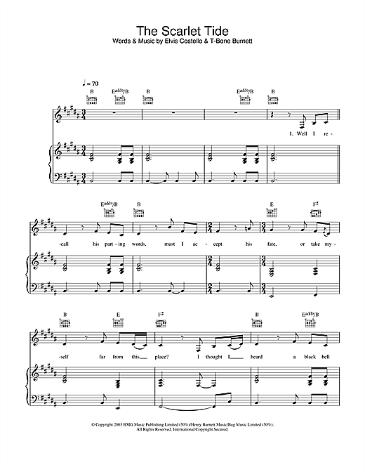 The Scarlet Tide (from Cold Mountain) Sheet Music