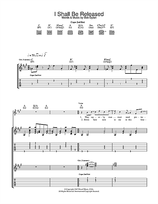 I Shall Be Released Sheet Music