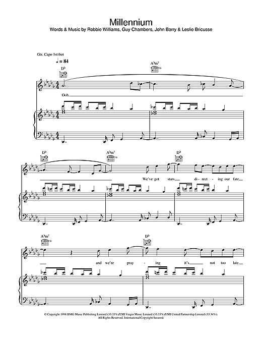 Millennium Sheet Music