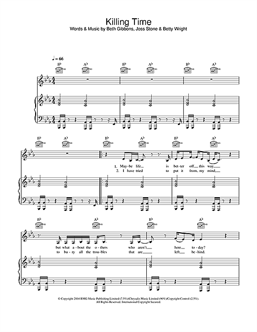 Killing Time Sheet Music