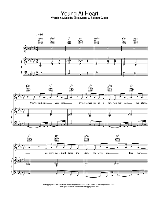 Young At Heart Sheet Music