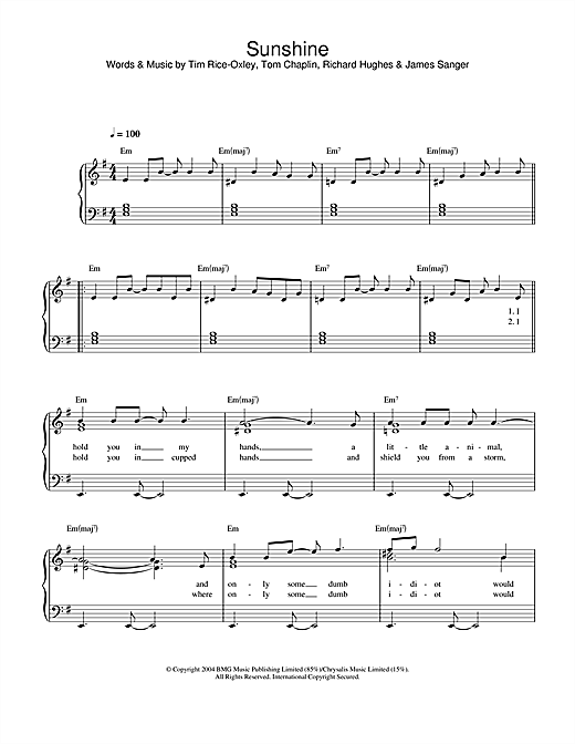 Sunshine Sheet Music