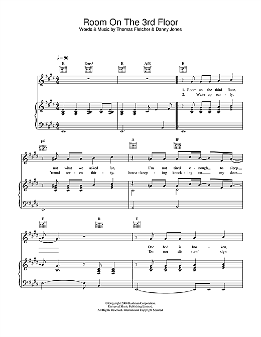 Room On The 3rd Floor Sheet Music