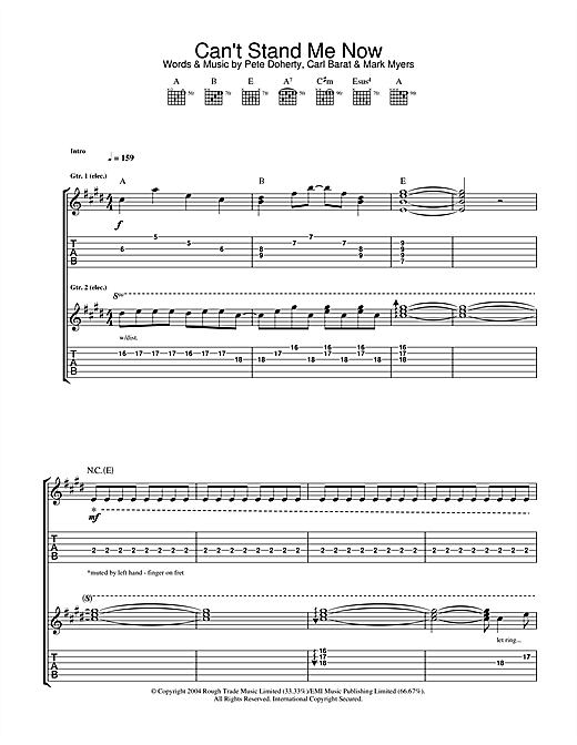 Can't Stand Me Now Sheet Music