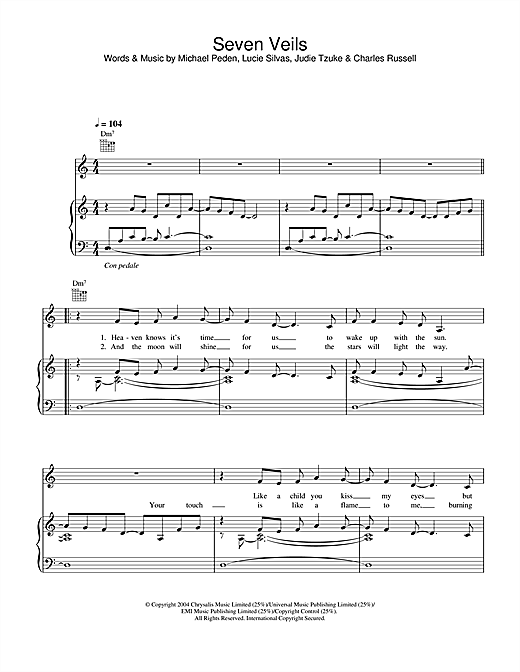 Seven Veils Sheet Music