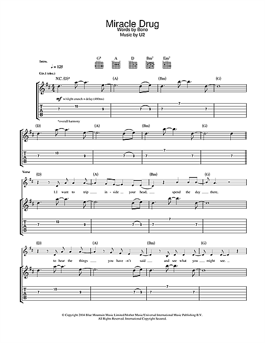 Miracle Drug Sheet Music