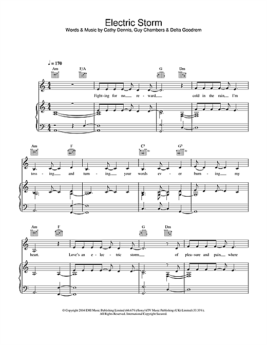Electric Storm Sheet Music