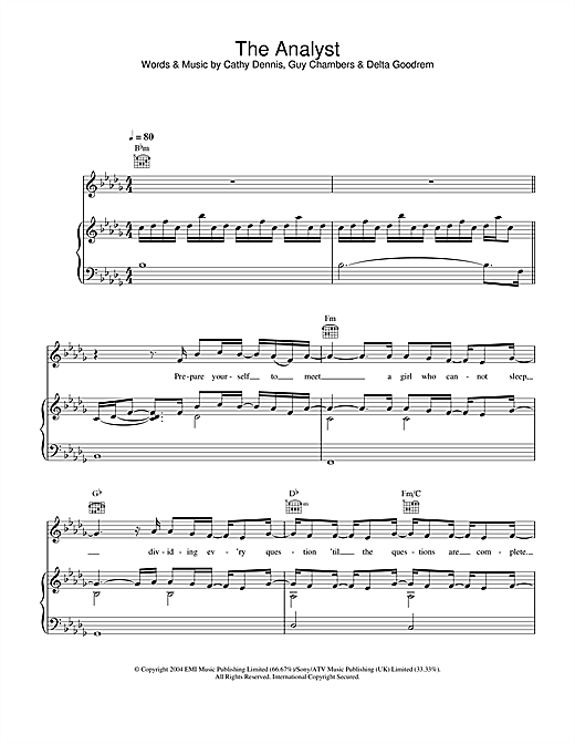 The Analyst Sheet Music