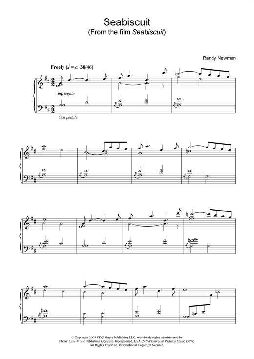 Seabiscuit (from Seabiscuit) Sheet Music