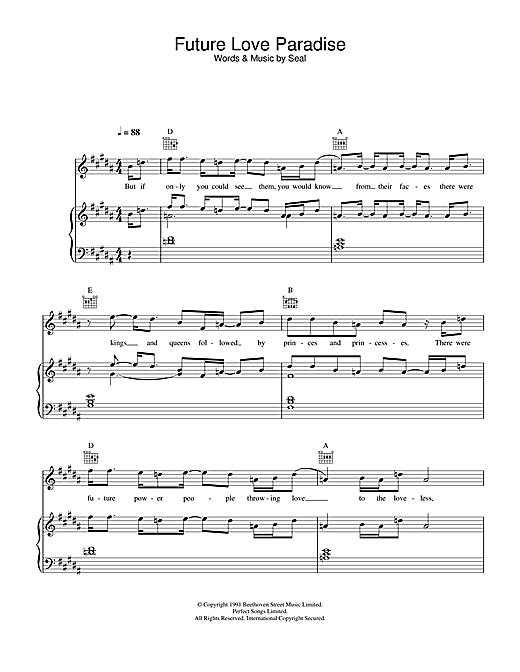 Future Love Paradise Sheet Music