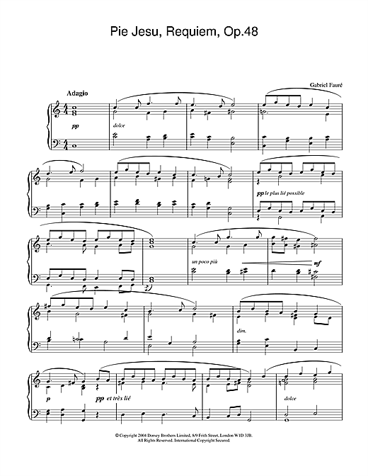 Pie Jesu (from Requiem, Op.48) Sheet Music