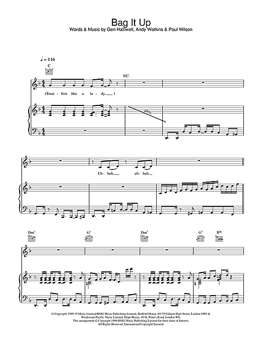 Bag It Up Sheet Music